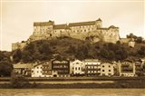 Castle at the waterfront, Burghausen Castle, Salzach River, Burghausen, Bavaria, Germany