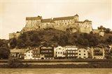 Castle at the waterfront, Burghausen Castle, Salzach River, Burghausen, Bavaria, Germany