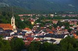 High angle view of buildings in a town, Bad Tolz, Bavaria, Germany