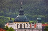 High angle view of a monastery, Ettal Abbey, Ettal, Bavaria, Germany
