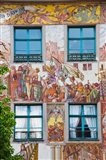 Old town painted building, Konstanz, Lake Constance, Baden-Wurttemberg, Germany