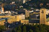 High angle view of a train station tower, Stuttgart Central Station, Stuttgart, Baden-Wurttemberg, Germany