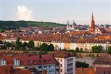 High angle view of buildings along a river, Main River, Wurzburg, Lower Franconia, Bavaria, Germany