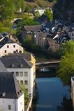 Houses in a town, Grund, Luxembourg City, Luxembourg