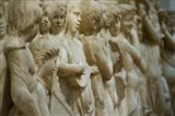 Detail of marble relief, Florence, Tuscany, Italy