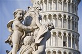 La Fontana dei Putti in front of Leaning Tower of Pisa, Pisa, Tuscany, Italy