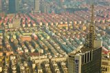 Aerial view of housing, Shanghai, China