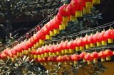 Red lanterns at a temple, Jade Buddha Temple, Shanghai, China