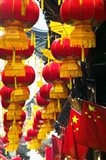 Festive lanterns at bazaar, Yu Yuan Gardens, Shanghai, China
