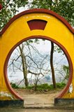 Archway with trees in the background, Mingshan, Fengdu Ghost City, Fengdu, Yangtze River, Chongqing Province, China