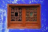 Blue Temple Wall at Mingshan, Fengdu Ghost City, Fengdu, Yangtze River, Chongqing Province, China