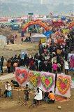 Ciqikou carnival by the Jialing River during Chinese New Year, Ciqikou, Chongqing, China