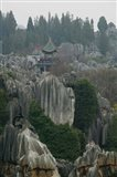 Observation tower on limestone formations, The Stone Forest, Shilin, Kunming, Yunnan Province, China
