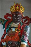 Temple guardian statue, Bamboo Temple, Kunming, Yunnan Province, China