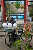 Candy Floss Vendor selling Cotton Candies in Old Town Dali, Yunnan Province, China