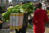 People at a vegetable market, Xizhou, Erhai Hu Lake Area, Yunnan Province, China