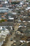 High angle view of houses in a village, Tianshengying, Erhai Hu Lake Area, Yunnan Province, China