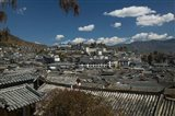High angle view of houses in a town, Old Town, Lijiang, Yunnan Province, China