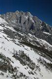 Panoramic view of a mountain range, Jade Dragon Snow Mountain, Lijiang, Yunnan Province, China