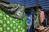 Batik fabric souvenirs at a market stall, Baisha, Lijiang, Yunnan Province, China