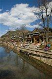 Buildings along Yu River Canal, Old Town, Lijiang, Yunnan Province, China