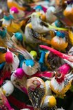 Artificial birds for sale at a market stall, Yuen Po Street Bird Garden, Mong Kok, Kowloon, Hong Kong