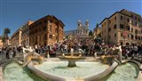 Fontana Della Barcaccia at Piazza Di Spagna, Rome, Lazio, Italy