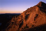 The Watchman at sunrise, Crater Lake National Park, Oregon, USA