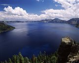 Summer thunderstorms over Crater Lake, Crater Lake National Park, Oregon, USA