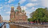Church in a city, Church Of The Savior On Blood, St. Petersburg, Russia
