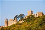 Low angle view of a castle on a hill, Brancion, Maconnais, Saone-et-Loire, Burgundy, France