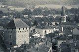 Abbey in a town, Cluny Abbey, Maconnais, Saone-et-Loire, Burgundy, France