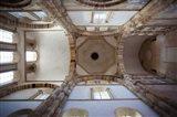 Low angle view of ceiling of an abbey, Cluny Abbey, Maconnais, Saone-et-Loire, Burgundy, France
