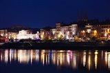 Quai Lamartine at Night, Saone River, Macon, Burgundy, Saone-et-Loire, France