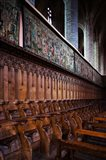 Choir stalls at Abbatiale Saint-Robert, La Chaise-Dieu, Haute-Loire, Auvergne, France