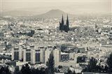 Cityscape with Cathedrale Notre-Dame-de-l'Assomption in the background, Clermont-Ferrand, Auvergne, Puy-de-Dome, France