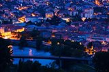 Elevated town view at dawn, Millau, Aveyron, Midi-Pyrenees, France
