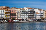 Old Port waterfront with buildings in the background, Sete, Herault, Languedoc-Roussillon, France