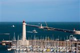 Port with the Mole St-Louis pier lighthouse, Sete, Herault, Languedoc-Roussillon, France