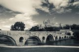 Pont Vieux bridge with Cathedrale Saint-Nazaire in the background, Beziers, Herault, Languedoc-Roussillon, France