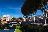 Buildings along the Basse Riverfront, Perpignan, Pyrenees-Orientales, Languedoc-Roussillon, France