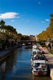 Canal de la Robine by the Cours Mirabeau, Narbonne, Aude, Languedoc-Roussillon, France