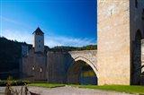 Medieval bridge across a river, Pont Valentre, Lot River, Cahors, Lot, Midi-Pyrenees, France