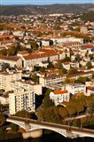 Elevated view of a town, Cahors, Lot, Midi-Pyrenees, France