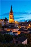 Eglise Monolithe Church at Dawn, Saint-Emilion, Gironde, Aquitaine, France