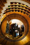 Overview of the L'Intendant wine shop staircase, Bordeaux, Gironde, Aquitaine, France