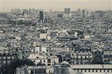 Aerial view of a city viewed from Basilique Du Sacre Coeur, Montmartre, Paris, Ile-de-France, France