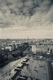 Aerial view of a city viewed from Notre Dame Cathedral, Paris, Ile-de-France, France
