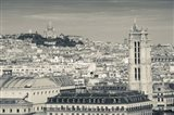 City with St. Jacques Tower and Basilique Sacre-Coeur viewed from Notre Dame Cathedral, Paris, Ile-de-France, France