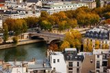 Seine River and city viewed from the Notre Dame Cathedral, Paris, Ile-de-France, France